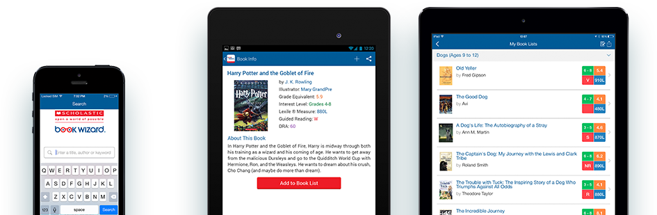 Book Wizard Mobile: Level books and create book lists on