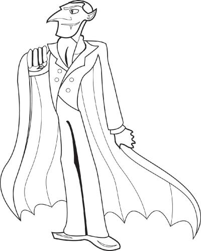 Halloween Coloring Page: Dracula | Worksheets & Printables ...