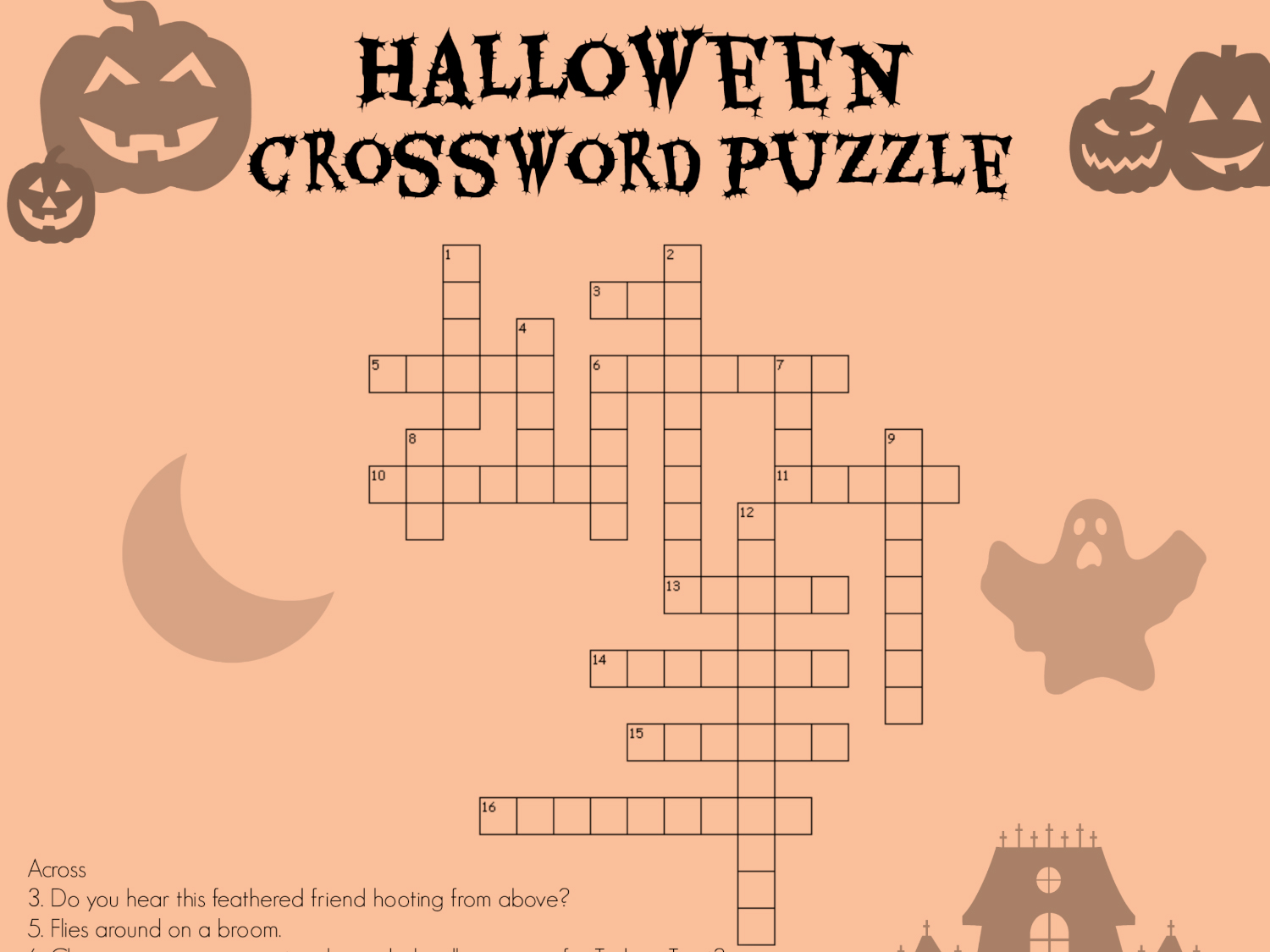 image relating to Halloween Word Search Puzzle Printable named Halloween Crossword Worksheets Printables Scholastic
