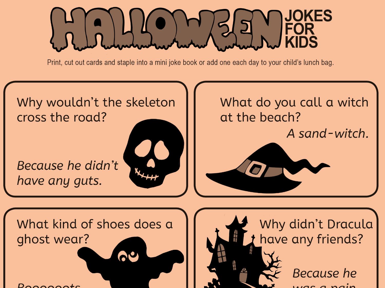 Kid- Friendly Jokes for Halloween | Worksheets & Printables | Scholastic |  Parents
