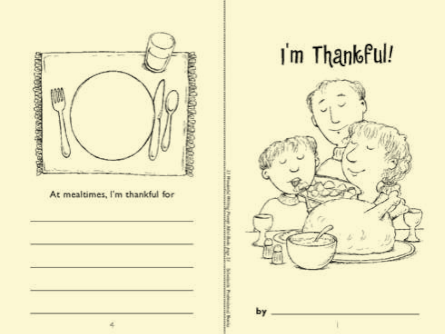 image about Thankful Printable referred to as Minibook: Im Grateful Worksheets Printables
