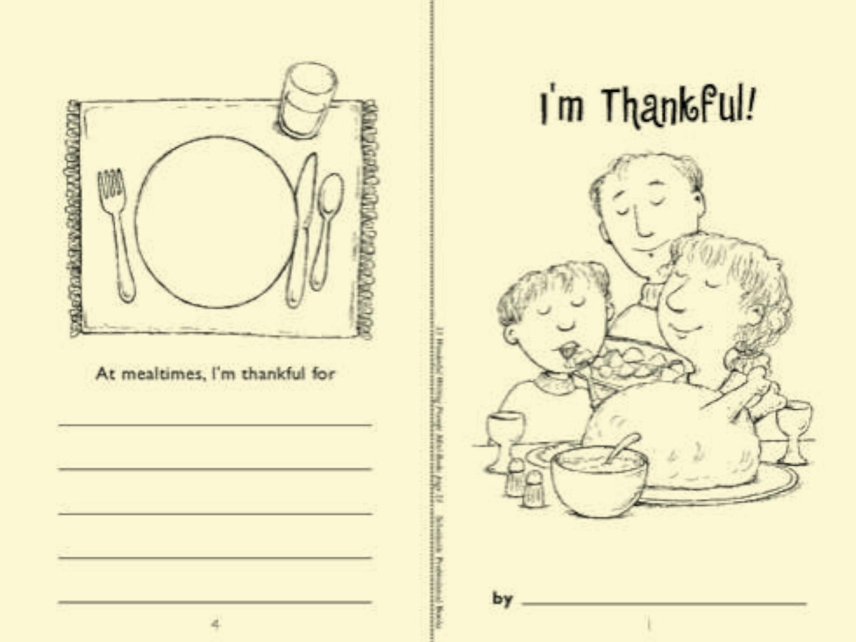 minibook i m thankful worksheets printables scholastic parents