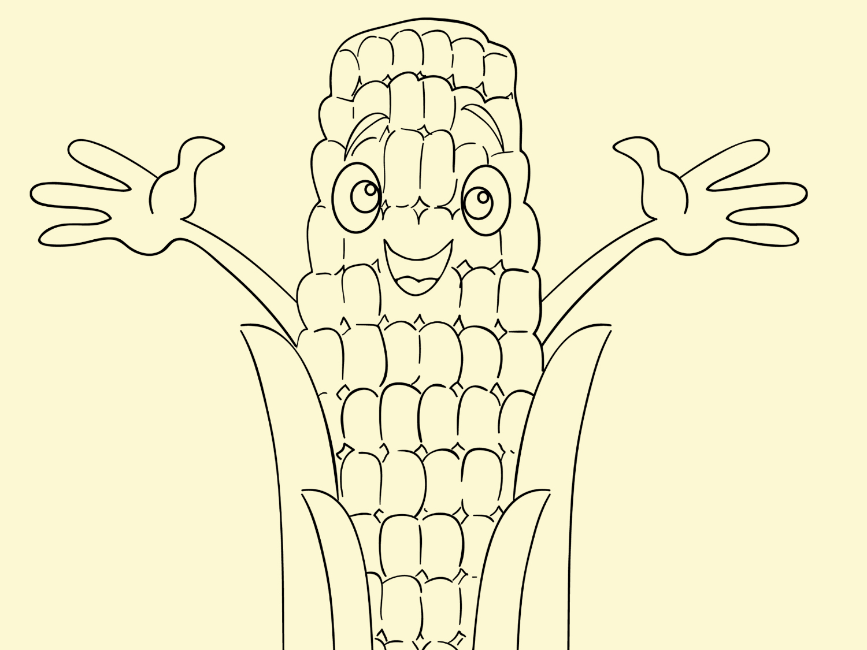 photograph regarding Corn Printable titled Thanksgiving Printable Coloring Web site: Harvest Corn