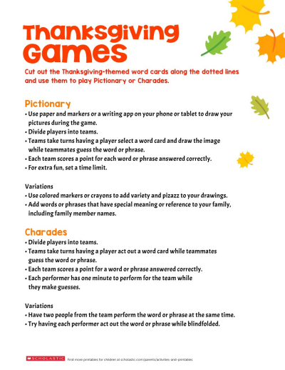 photo regarding Free Printable Thanksgiving Games for Adults referred to as Thanksgiving-Motivated Video games Worksheets Printables