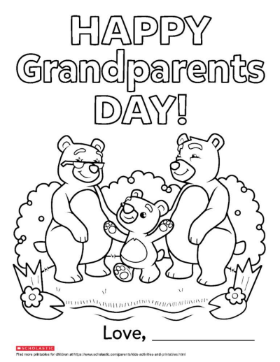 photo relating to Grandparents Day Printable Coloring Pages identified as Grandparents Working day Printable Coloring Webpage Worksheets