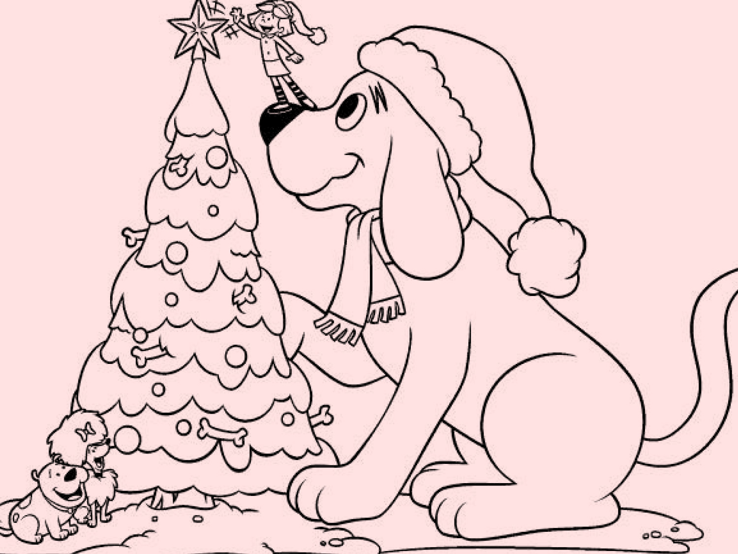 Color Clifford S Christmas Tree