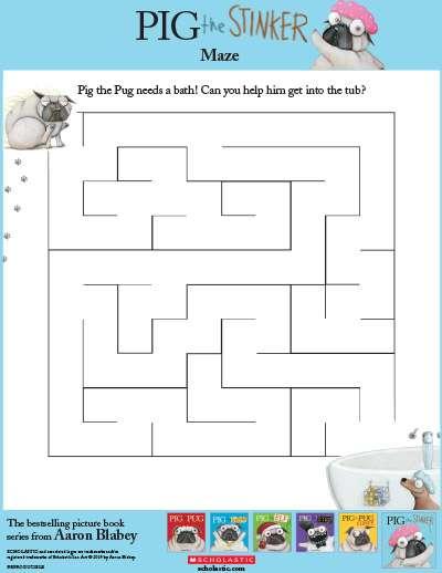 Printable Maze for Bath Time   Scholastic   Parents