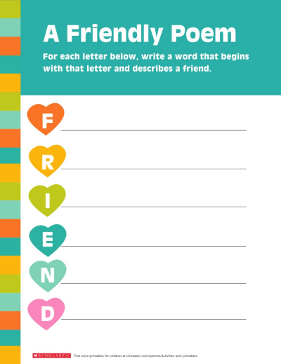 graphic about Poetry Worksheets Printable titled Produce Friendship-Encouraged Poetry Worksheets Printables