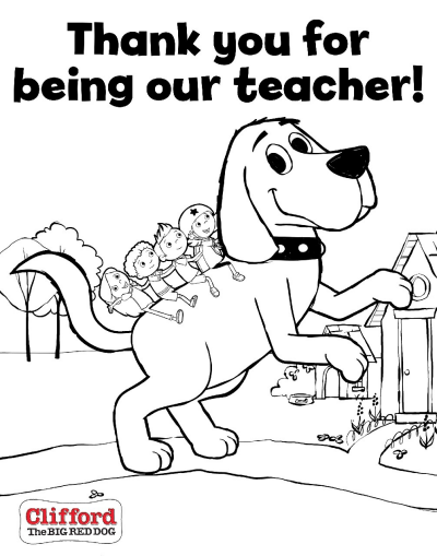 Clifford Printable Coloring Sheets For Teacher Appreciation Week  Scholastic Parents