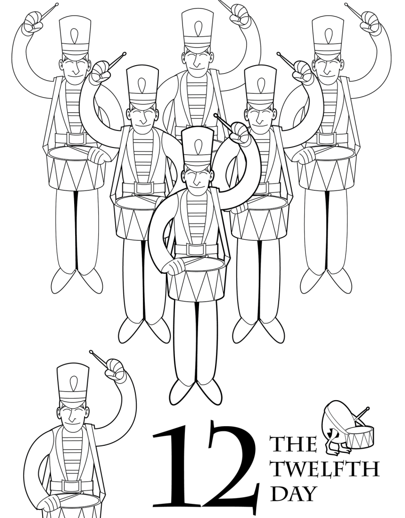 The 12 Days Of Christmas Coloring Book Scholastic Parents