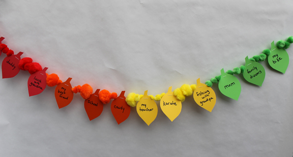 Thanksgiving Craft To Do With Kids Thankful Garland