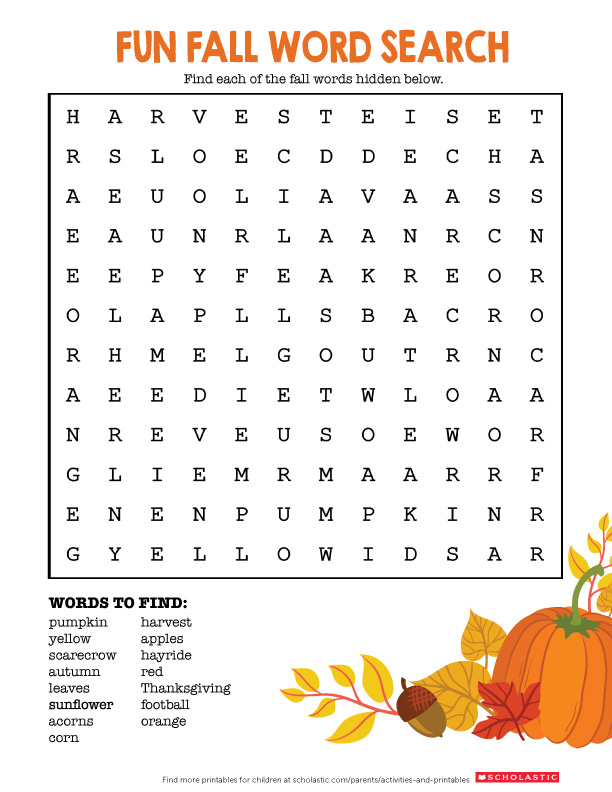 graphic about Fall Printable Activities named Welcome Slide With This Phrase Appear Printable Scholastic