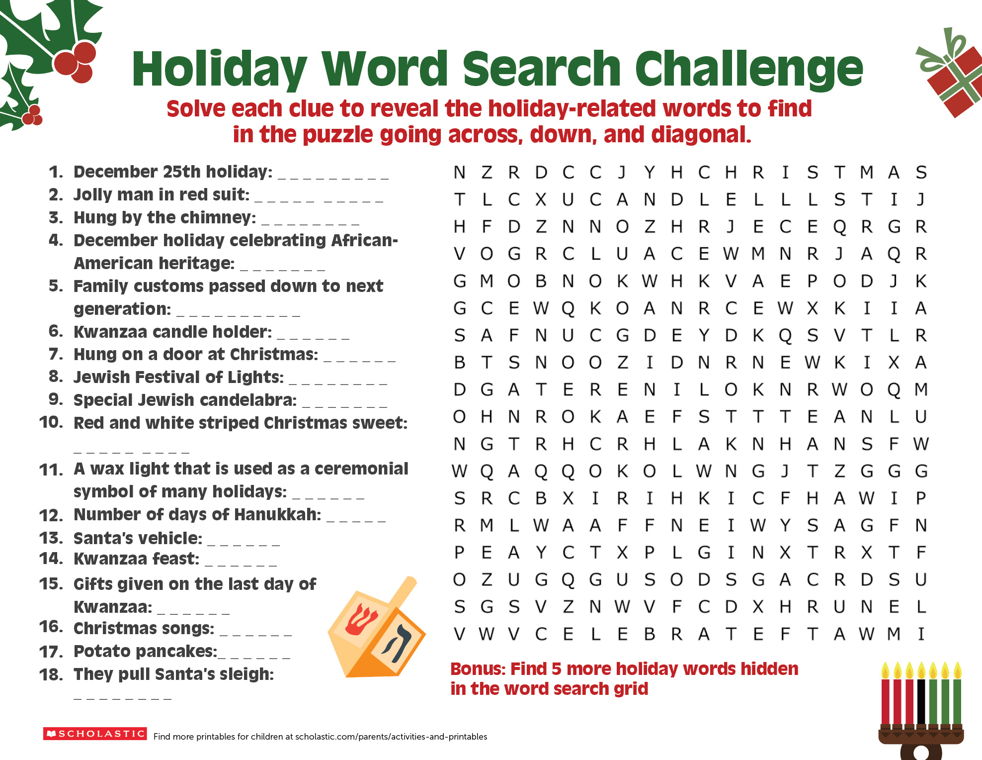 graphic relating to Printable Christmas Crossword Puzzles for Adults With Answers titled Percentage a Getaway Phrase Look-Puzzle With Your More mature Youngster