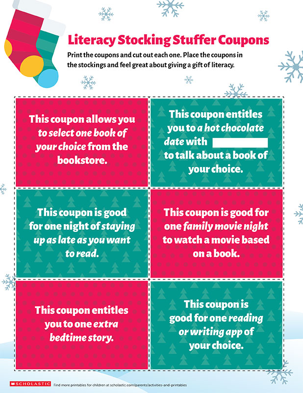 6 Printable Coupon Stocking Stuffers That Promote Literacy ...
