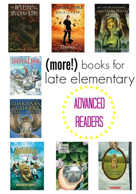 More Books For Advanced Readers Late Elementary School Aged Kids