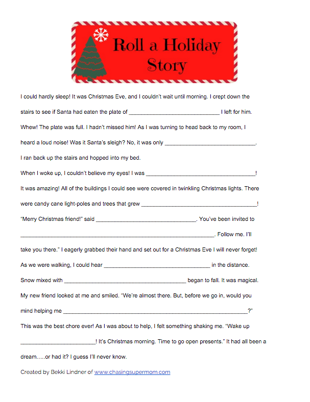Christmas Readings.Roll A Holiday Story A Christmas Reading Game Scholastic