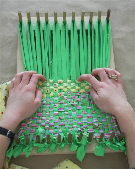 Weaving Fabric With a Handmade Loom | Scholastic | Parents