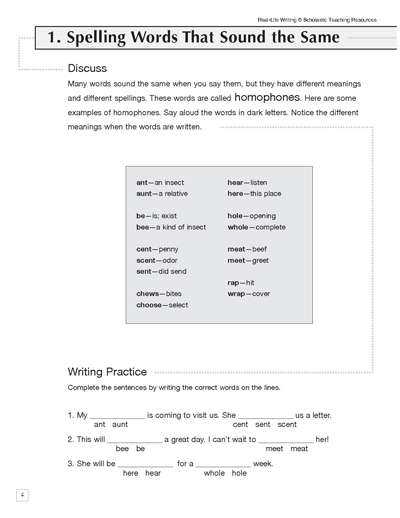 Homophones: Practice Page | Worksheets & Printables ...