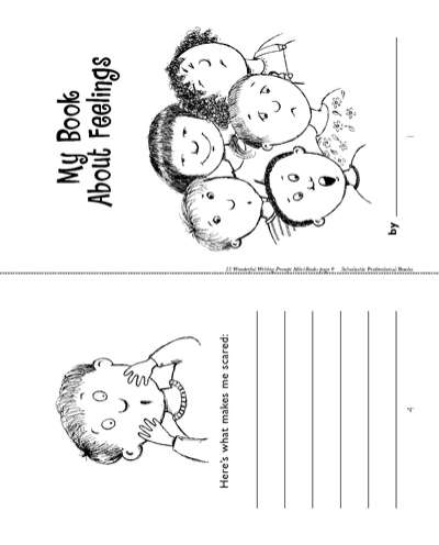 Minibook Feelings Worksheets Printables Scholastic Parents