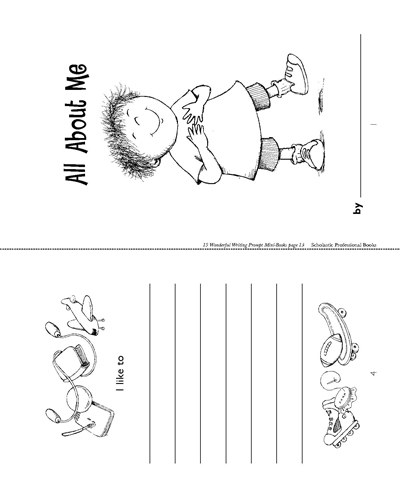 Minibook All About Me Worksheets Printables Scholastic Parents