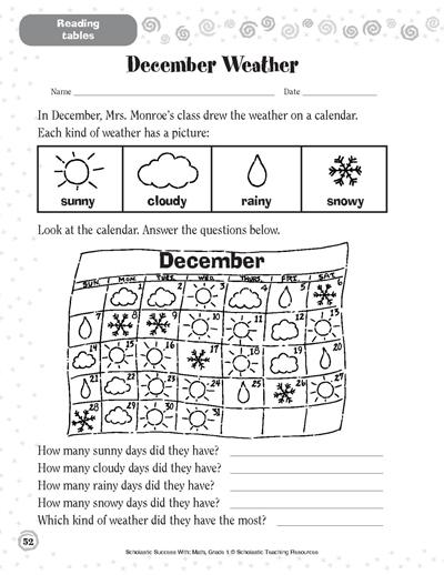 december weather worksheets and printables scholastic parents. Black Bedroom Furniture Sets. Home Design Ideas