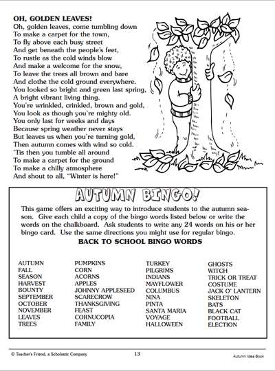 More Autumn Time Activities Worksheets Amp Printables