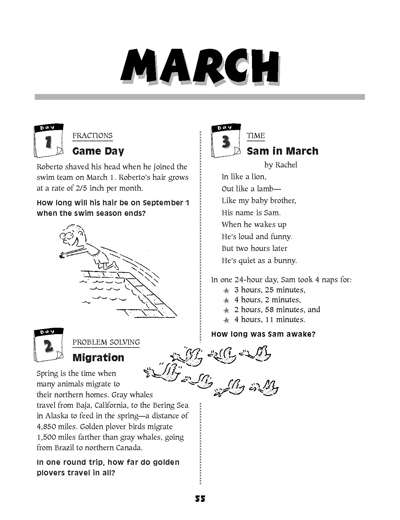 March Math Story Problems | Worksheets & Printables | Scholastic