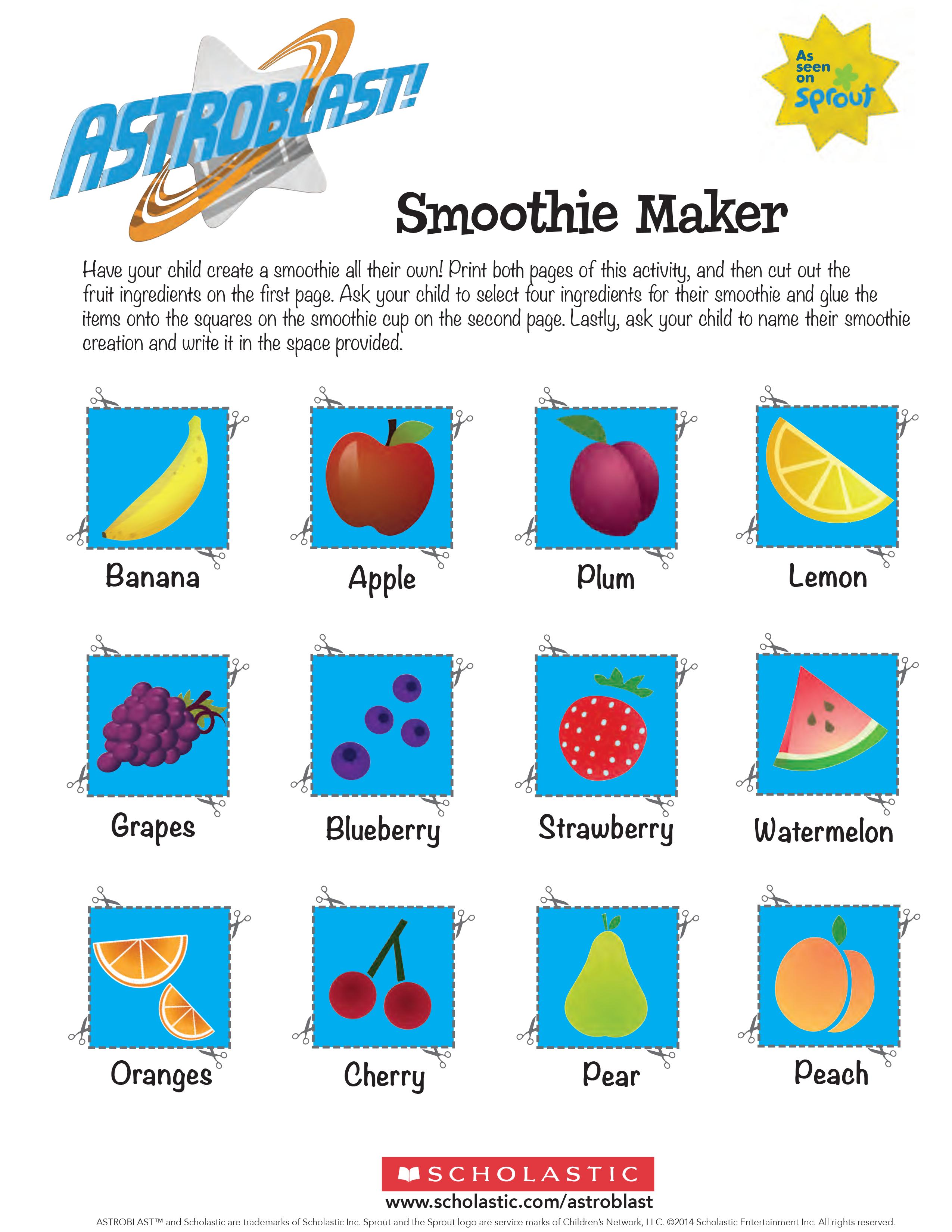Astroblast: Smoothie Maker | Scholastic | Parents