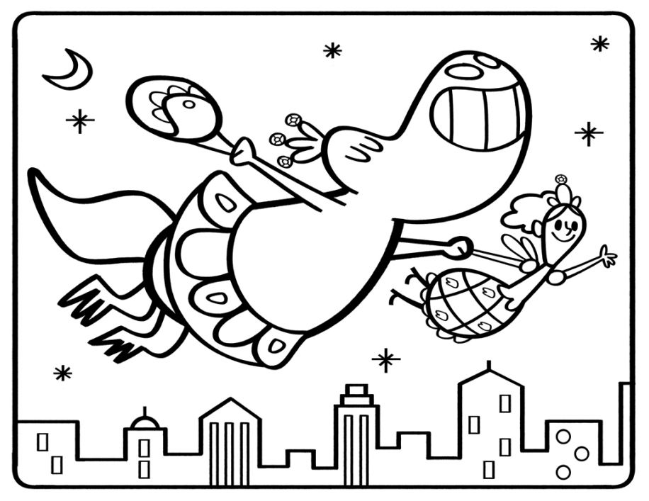 Dinosaur tooth fairy coloring sheet scholastic parents for Tooth fairy coloring pages printable