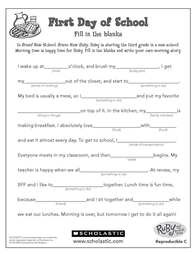 Finish The Story Worksheets & Printables Scholastic Parents