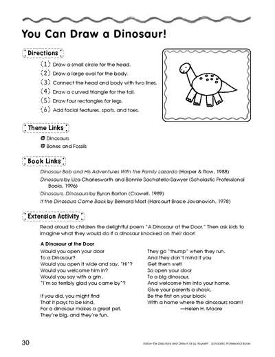 you can draw a dinosaur worksheets printables scholastic parents. Black Bedroom Furniture Sets. Home Design Ideas