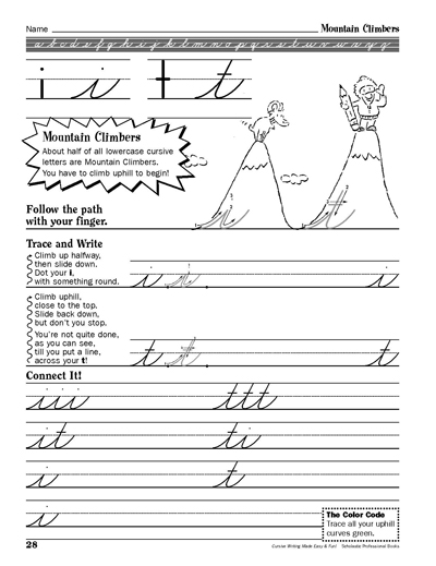 mountain climbers cursive writing made easy and fun scholastic parents. Black Bedroom Furniture Sets. Home Design Ideas