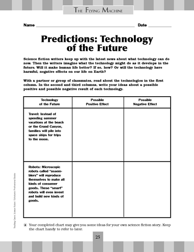 Predictions Technology Of The Future Worksheets