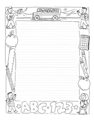 Designed Writing Paper Worksheets Printables Scholastic