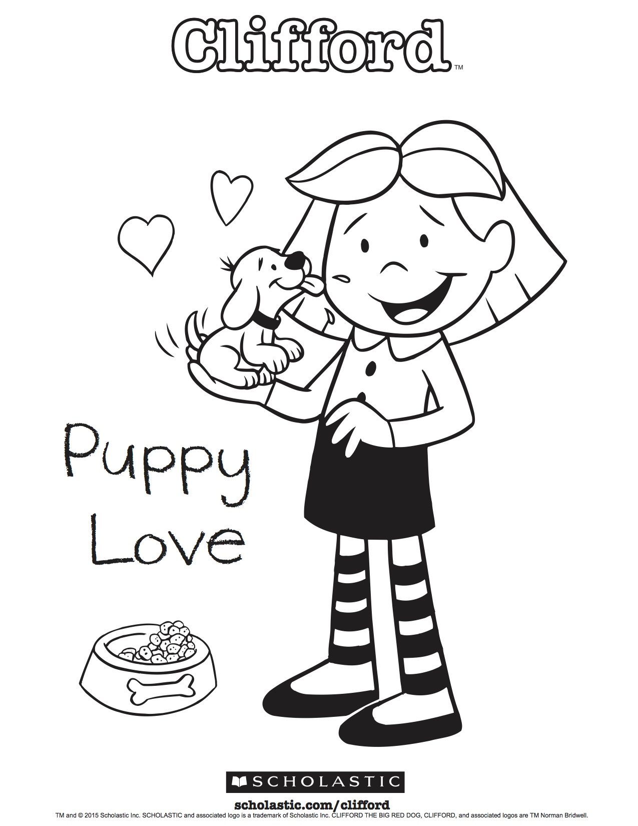 Clifford\'s Puppy Love Coloring Sheet | Scholastic | Parents