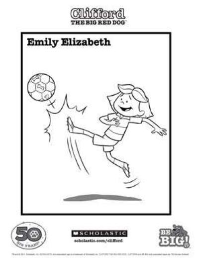 Emily Elizabeth Coloring Sheet | Scholastic | Parents