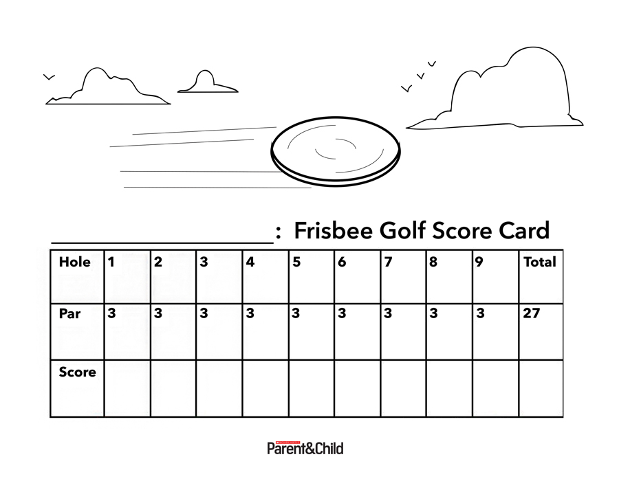 It's just a photo of Nifty Disc Golf Scorecard Printable