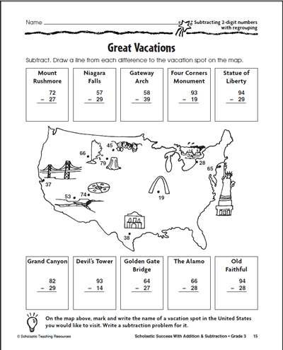 Great Vacations| Worksheets & Printables | Scholastic ...