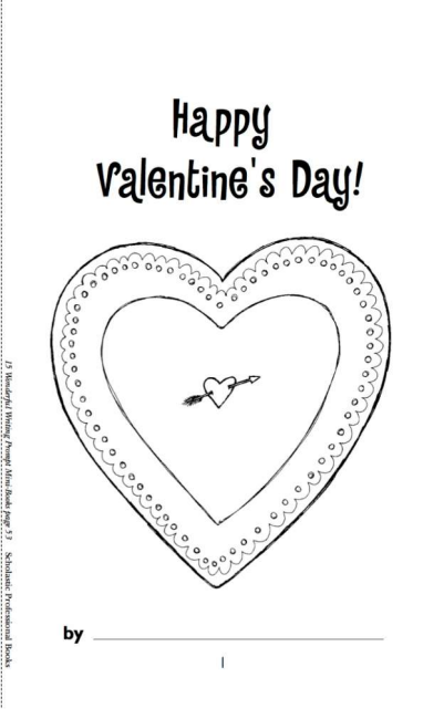 picture about Printable Mini Booklets identified as Pleased Valentines Working day Mini- E book Worksheets Printables