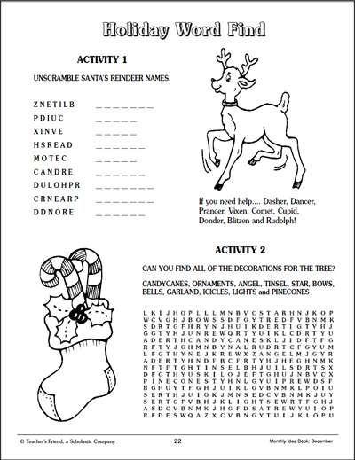 photo relating to Holiday Word Scramble Printable named Getaway Term Track down and Phrase Jumble Worksheets Printables