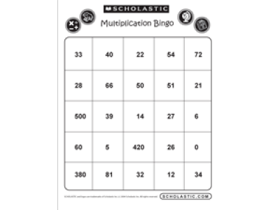 image about Multiplication Bingo Printable named Multiplication Bingo Sheet # 1: Worksheets Printables