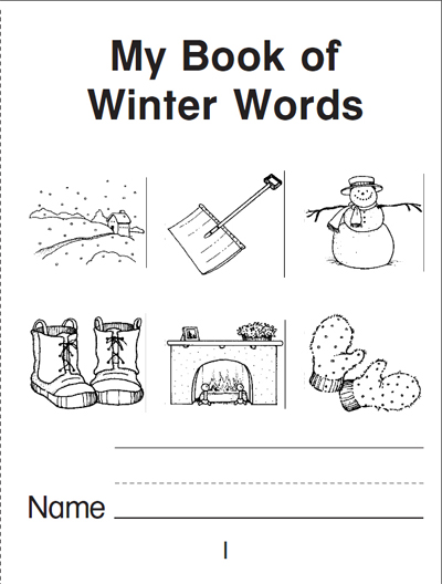 My Book of Winter Words: A Mini Book | Worksheets & Printables ...