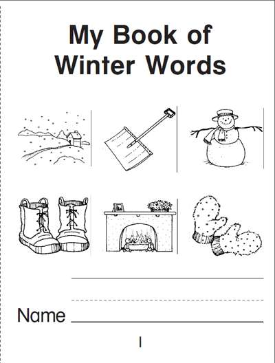 my book of winter words a mini book worksheets printables scholastic parents. Black Bedroom Furniture Sets. Home Design Ideas