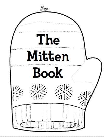 Refreshing image within the mitten printable book