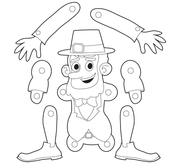 St. Patrick's Day Printable for Kids: Leprechaun Puppet ...
