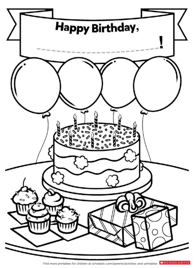 a homemade birthday card worksheets and printables scholastic parents. Black Bedroom Furniture Sets. Home Design Ideas