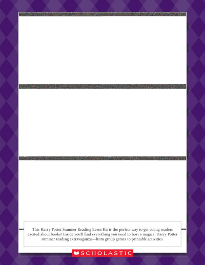 photo about Harry Potter Printable called Harry Potter Summer months Examining Occasion Worksheets Printables