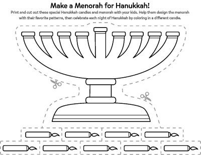picture regarding Menorah Printable identified as Rejoice Hanukkah With a Minimize- Out Menorah Printable