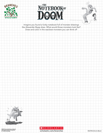The Notebook of Doom Drawing Sheet Branches Books Scholastic Parents