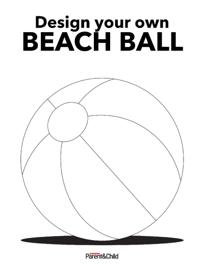 picture relating to Beach Ball Printable known as Structure a Seashore Ball Printable Scholastic Mother and father